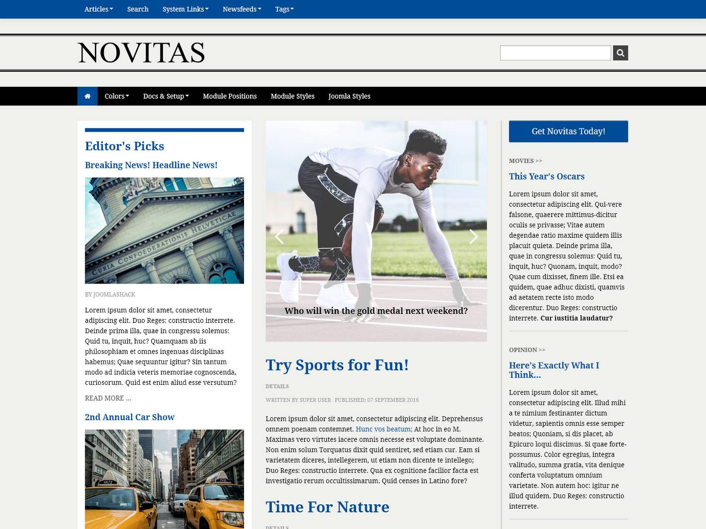 Novitas screenshot