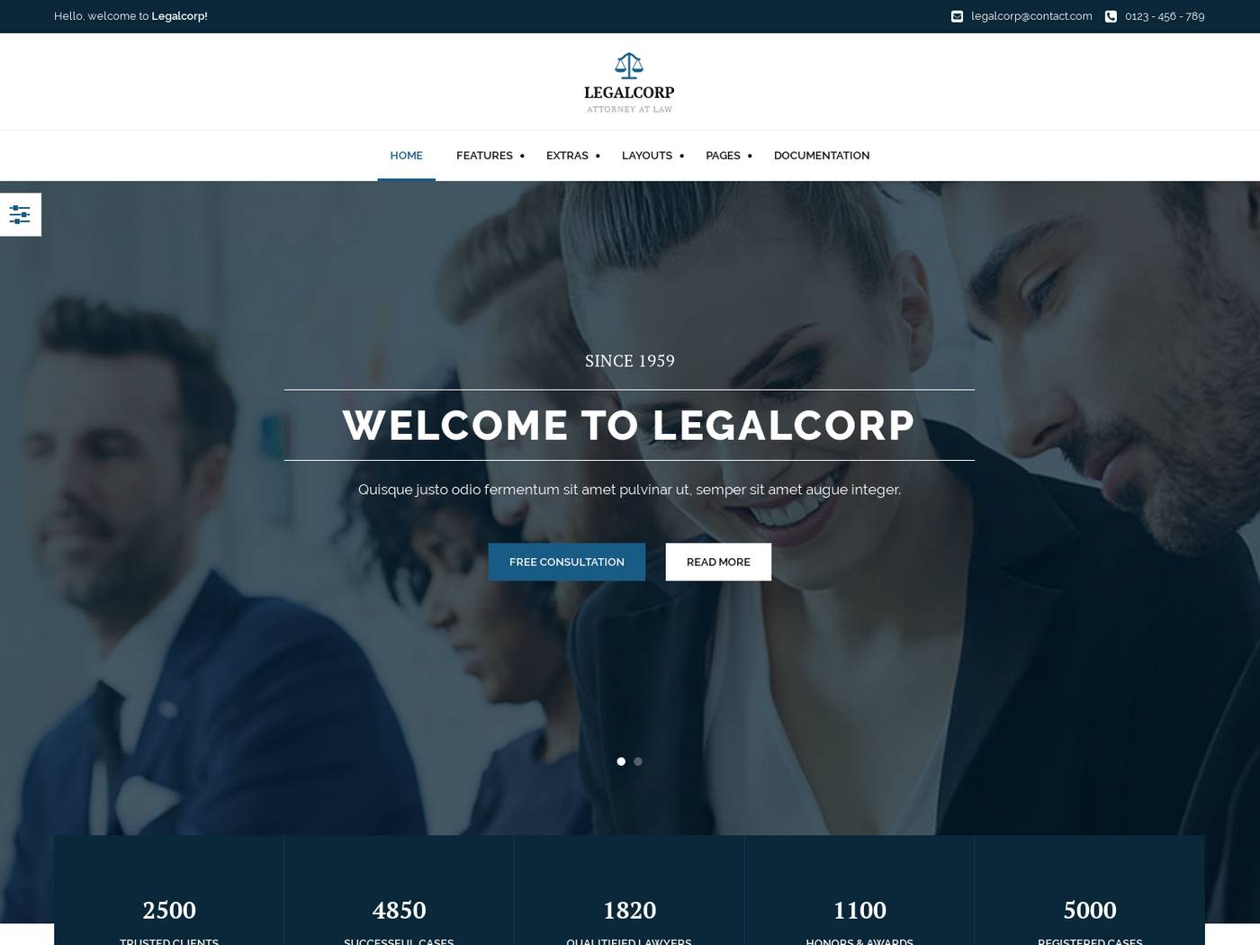 Legalcorp screenshot
